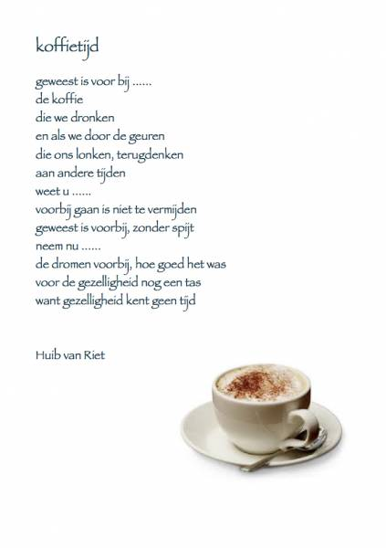 1001 Gedichten & Gedichtjes - Gedicht 'koffietijd' door ...