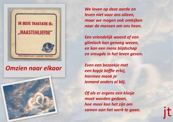 1001 Gedichten Gedichtjes Gedicht Omzien Naar Elkaar